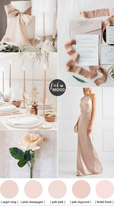 Neutral wedding color for a minimalist wedding theme - wedding color ideas , blush hues , neutral wedding ideas