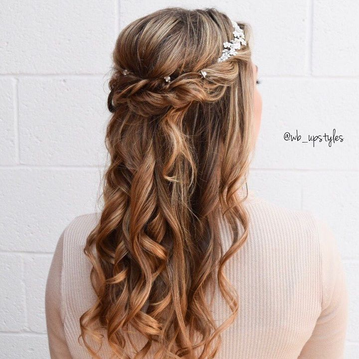 Wedding Hairstyle On: Partial Updo Wedding Hairstyles - Fab Mood