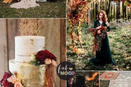 Colorful Fall Wedding Palette That Celebrate The Season - Jewel Tones, unusual fall wedding colors,unique fall wedding color schemes burgundy, burnt orange