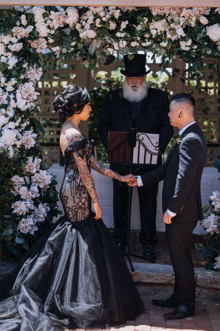 A Black Lace Wedding Dress For A Gothic Style Wedding 1 Fab Mood