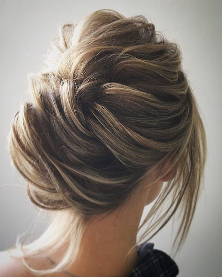 Undone updo wedding hairstyle