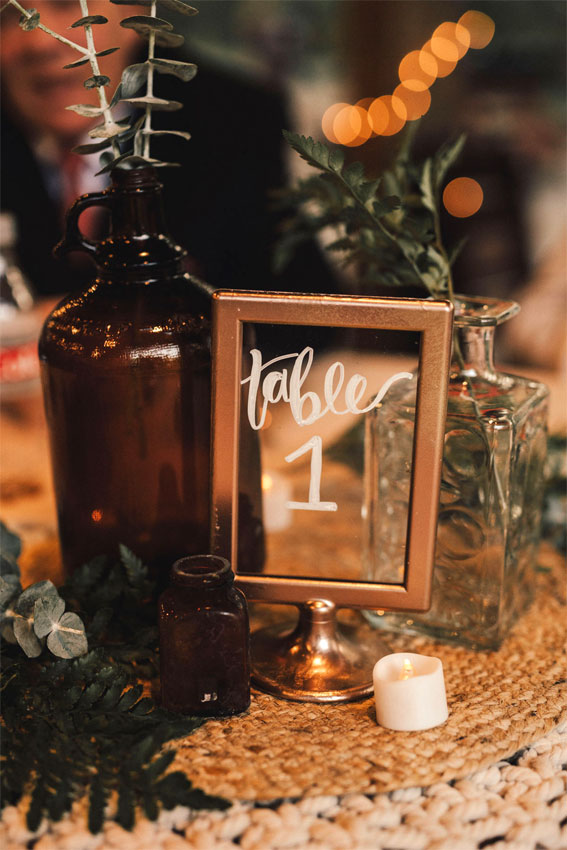 Boho rustic wedding table decor ideas #fallwedding