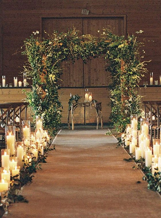 35 Creative Ways To Dress Up Your Wedding With Candles,Wedding Candle ceremony, candle wedding ceremony decorations,pictures ofweddingceremony with flowers and candles, candle wedding aisle, candle wedding decoration,pillarcandle weddingceremony, weddingaisle decorations