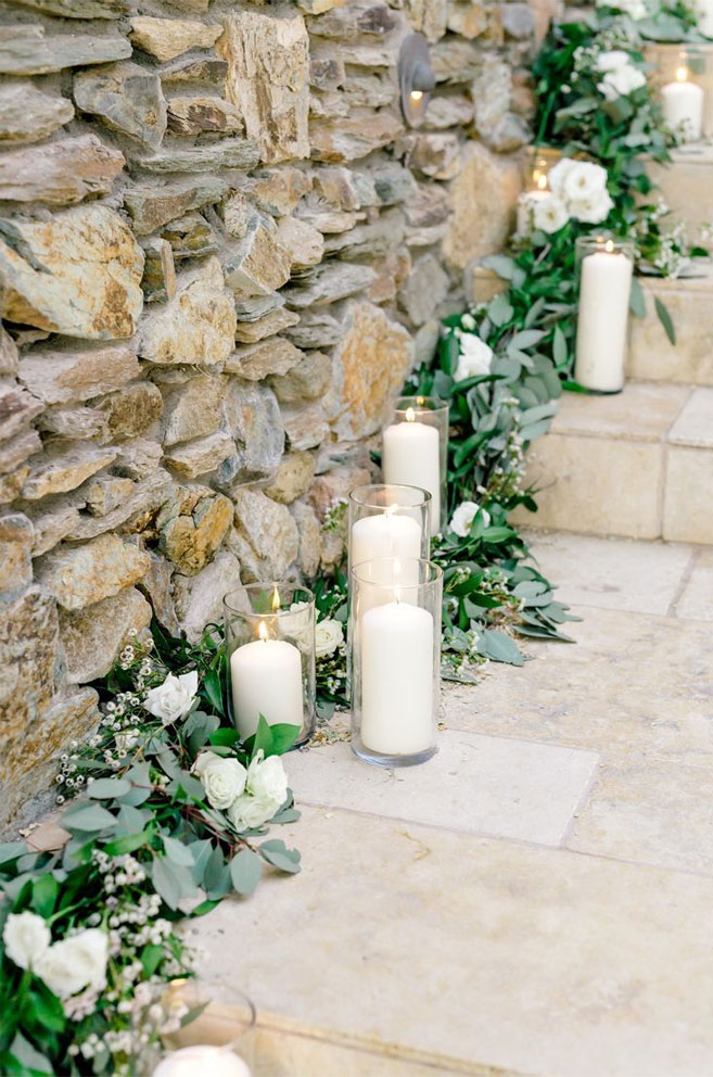 35 Creative Ways To Dress Up Your Wedding With Candles,Wedding Candle ceremony, candle wedding ceremony decorations,pictures ofweddingceremony with flowers and candles, candle wedding aisle, candle wedding decoration,pillarcandle weddingceremony,outdoor wedding decorations with candles