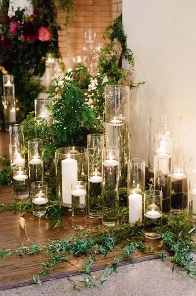 35 Creative Ways To Dress Up Your Wedding With Candles,Wedding Candle ceremony, candle wedding ceremony decorations,pictures ofweddingceremony with flowers and candles, candle wedding aisle, candle wedding decoration,pillarcandle weddingceremony, weddingtable decorations