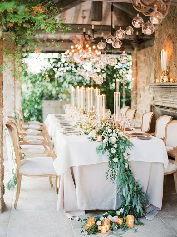 35 Creative Ways To Dress Up Your Wedding With Candles, Wedding Candle ceremony,  candle wedding ceremony decorations,pictures of wedding ceremony with flowers and candles,  candle wedding aisle, candle wedding decoration,pillar candle wedding ceremony,  wedding table decorations