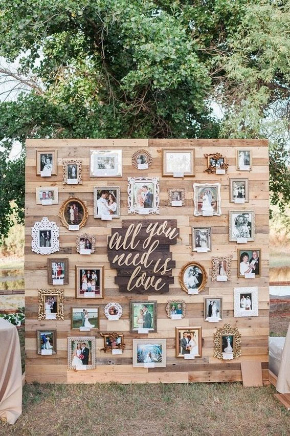 Creative Wedding photo display Ideas