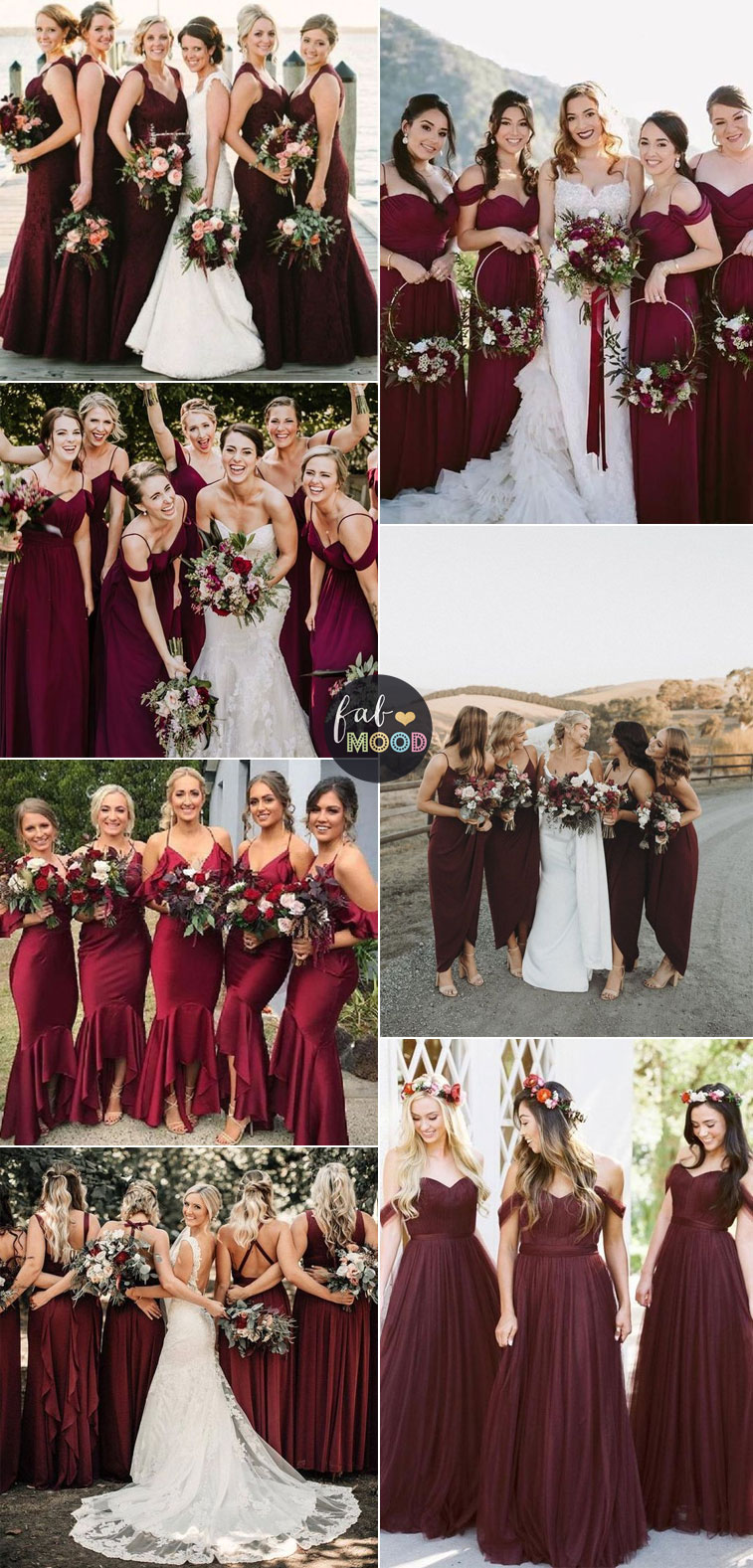 Burgundy bridesmaids - burgundy bridesmaid dresses #burgundy #bridesmaid