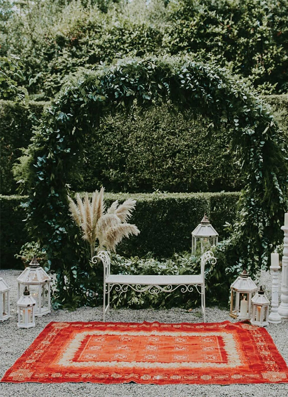 48 Beautiful Wedding Ceremony Décor That'll Take Your Wedding to the Next Level - greenery wedding arch, wedding ceremony backdrop #wedding #wedingdecor wedding decorations #ceremony