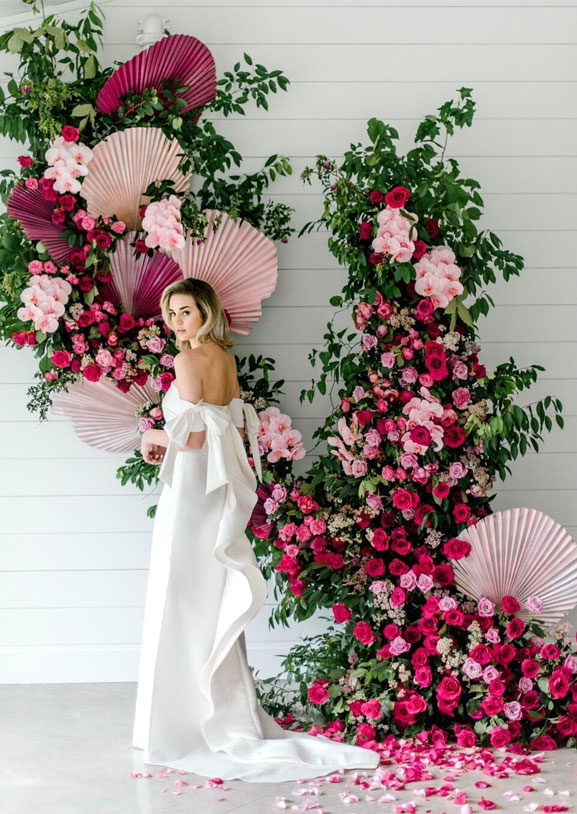 48 Beautiful Wedding Ceremony Décor That'll Take Your Wedding to the Next Level - wedding ceremony backdrop #wedding #wedingdecor wedding decorations #pink #ceremony