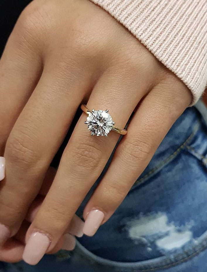 Round cut solitaire engagement ring - 11 These stunning engagement rings that make occasion more meaningful #engagement #solitaire