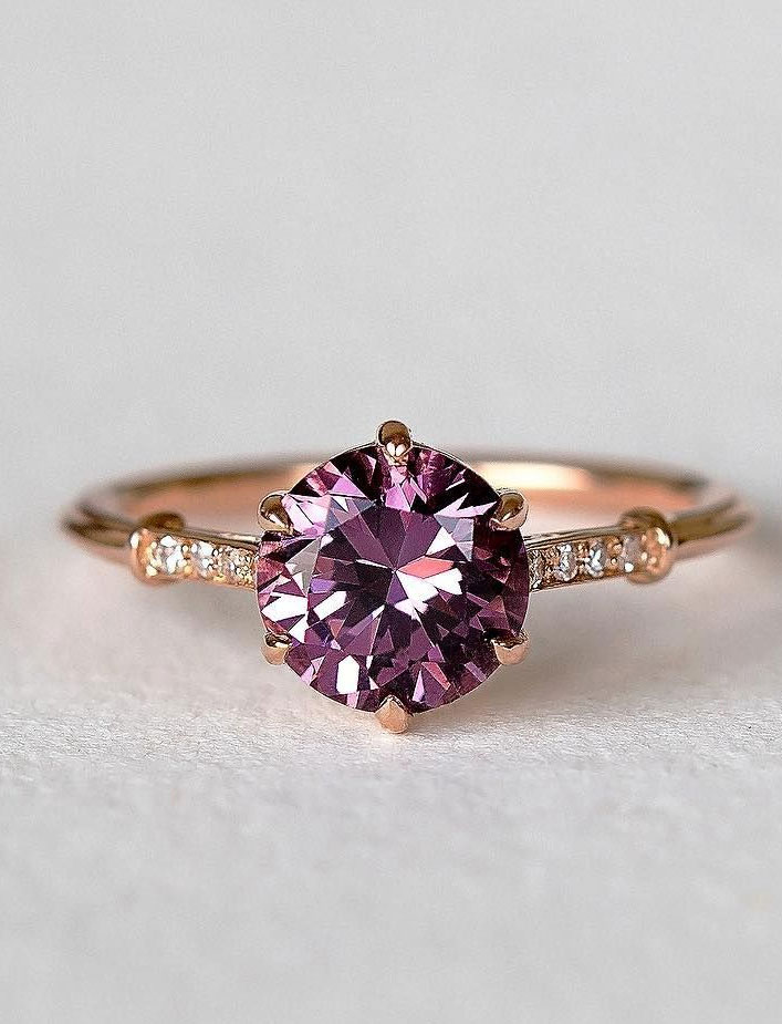 Purple solitaire engagement ring - - 11 These stunning engagement rings that make occasion more meaningful #engagement #solitaire