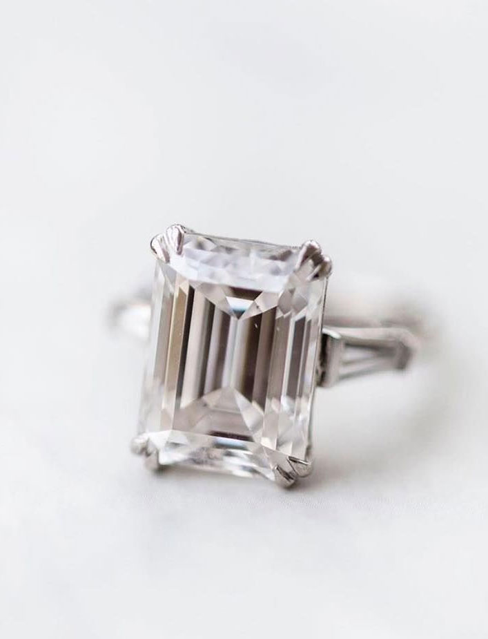 Emerald cut engagement ring - 11 These stunning engagement rings that make occasion more meaningful #engagement #solitaire