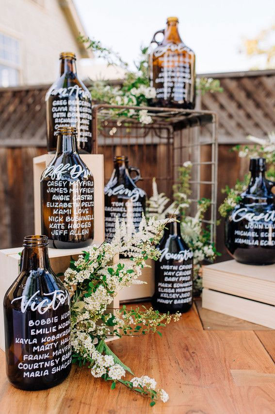 57 Insanely Creative Escort Cards and Seating Displays