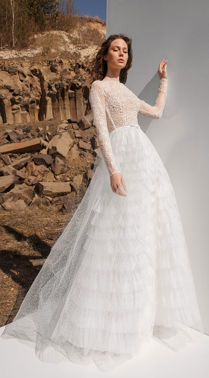 Long sleeve wedding gown - Eva Lendel Wedding Dresses Pure Essence 2019 Bridal Collection