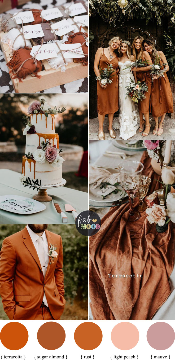 Rust + Terracotta + Sugar Almond { Pantone Autumn 2019 } with Mauve Accents #color #fall #autumn #rust #terracotta #pantone