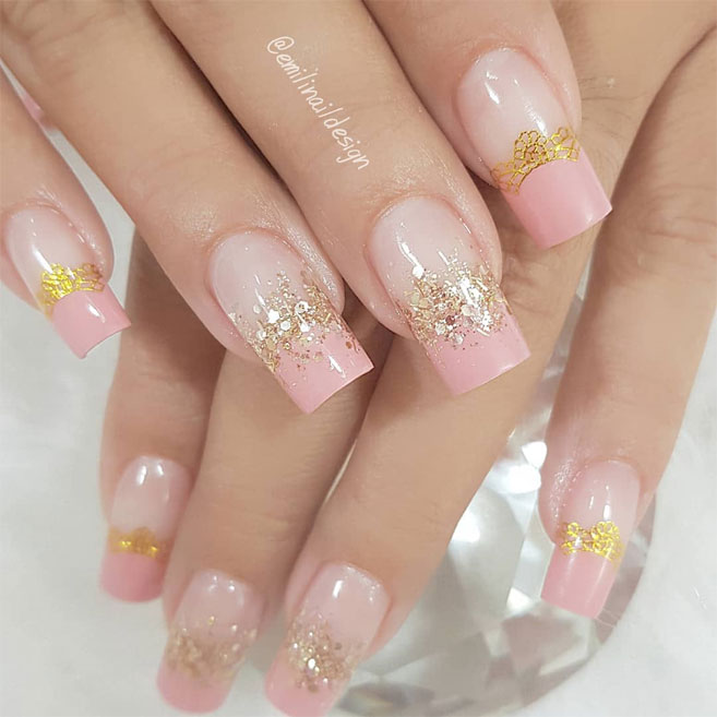 100 Beautiful wedding nail art ideas for your big day