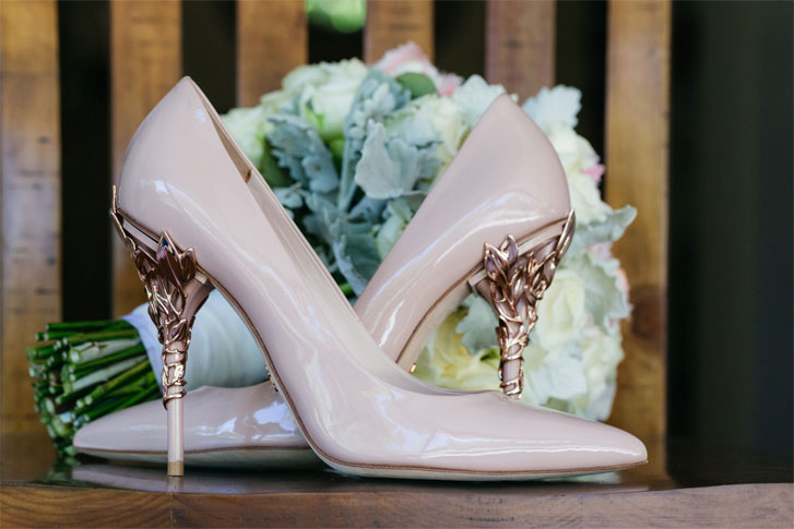 Soft Rose Pink and Rose Gold Colour For A Rich, Warm Rustic Italian Inspired Vibe Wedding