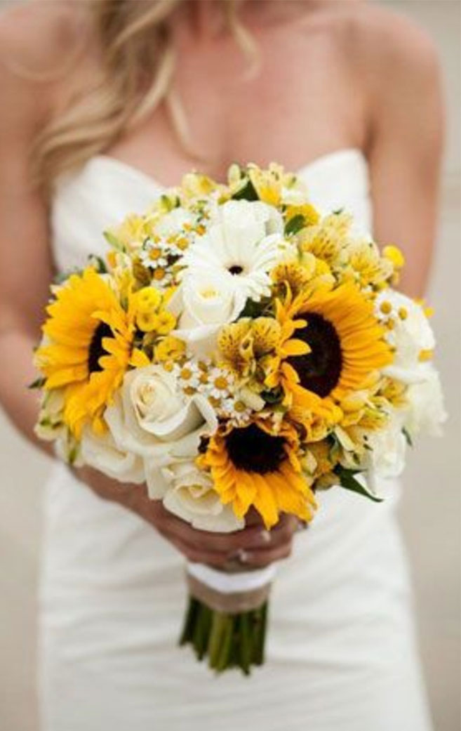 Absolutely stunning sunflowers mixed white flowers bouquet #summer #bouquet summer bouquet ,autumn wedding bouquet ideas #autumn #sunflowers