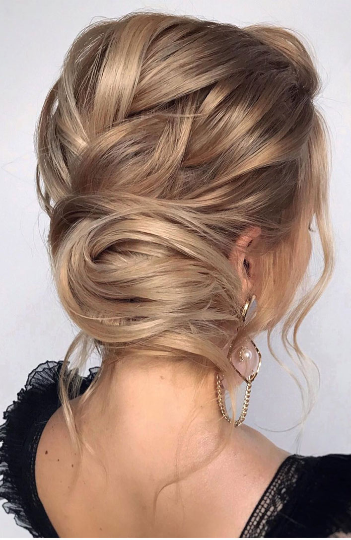 The Fabulous updo hairstyles for weddings - undone wedding hair #hairstyle #bridehair #wedding #updo #highbun messy updo hairstyle ideas