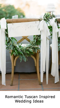 Tuscan inspired wedding ideas