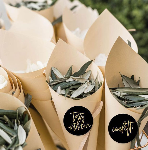 Leave confetti wedding ideas