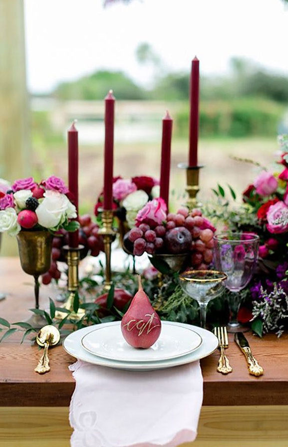 Beautiful jewel toned wedding table decoration #wedding #weddingtable #autumn
