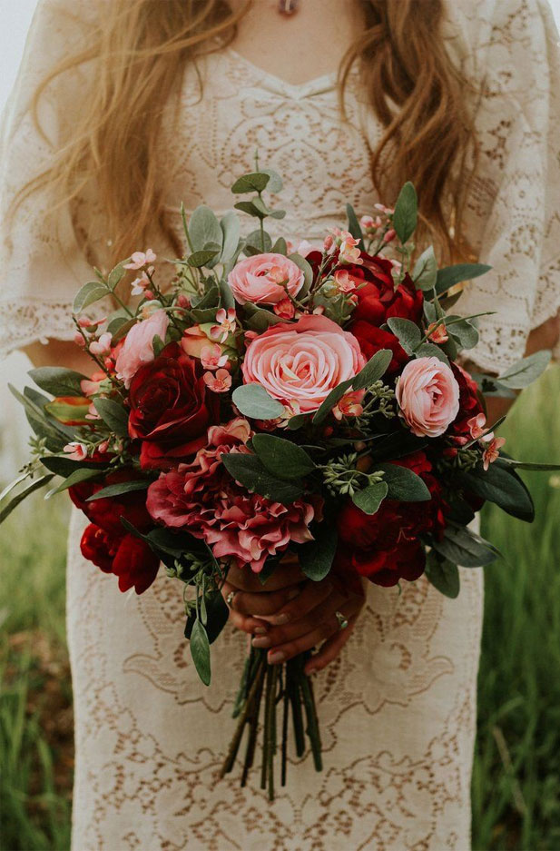 Fall Wedding Bouquets Beautiful Fall Color Palettes