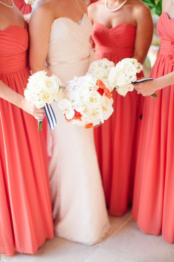Living Coral Bridesmaid Dresses { Pantone Color Of The Year 2019 } bridesmaid dress , peach bridesmaid dress , orange bridesmaid dresses #pantone #summer #summerwedding #bridesmaiddresses