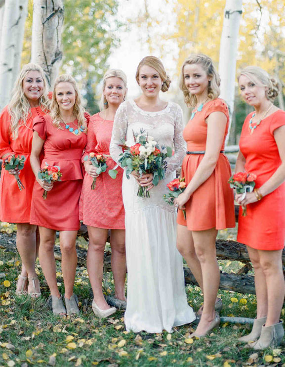 9 Living Coral Bridesmaid Dresses { Pantone Color Of The Year 2019 } bridesmaid dress , peach bridesmaid dress , orange bridesmaid dresses #pantone #summer #summerwedding #bridesmaiddresses