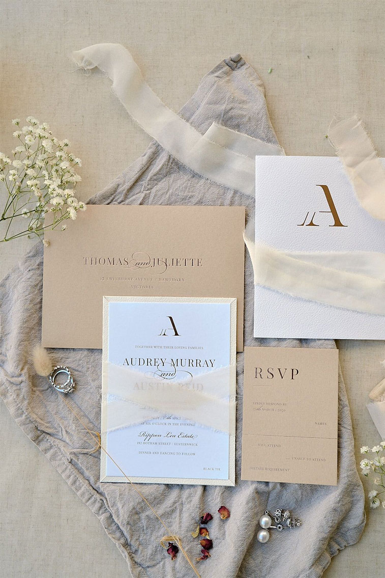 Wedding stationery Victorian Inspired Dream Wedding