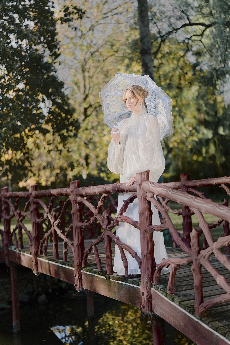 Long sleeve wedding dress - Bridal Styled Shoot - bride and groom #wedding