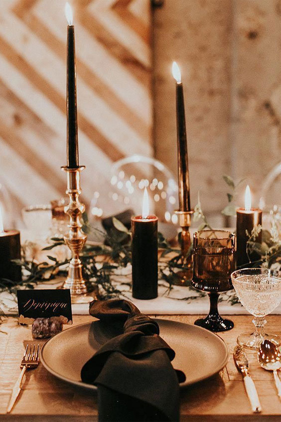 Wedding Tablescape - Autumn wedding table decor ideas