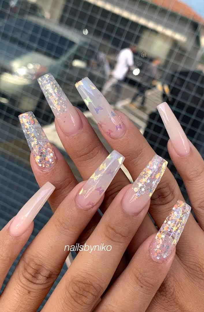 100 Gorgeous nail art design ideas,wedding nails with glitter,bridal nails,nail art for wedding,nail ideas for bride,wedding nails natural,wedding nails,wedding nails bridesmaids,wedding nails coffin,wedding nails acrylic,wedding nails i do,wedding nails french #nail #nailart #weddingnails #bridenails