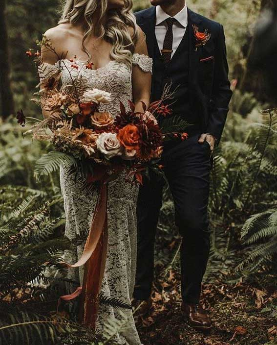 Beautiful autumn wedding bouquet #rust #bouquet #bridebouquet #wedding