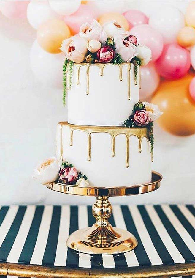 22 The most beautiful wedding cakes with floral -  wedding cake ideas #weddingcake #wedding #cakeideas wedding cake with flowers #cake