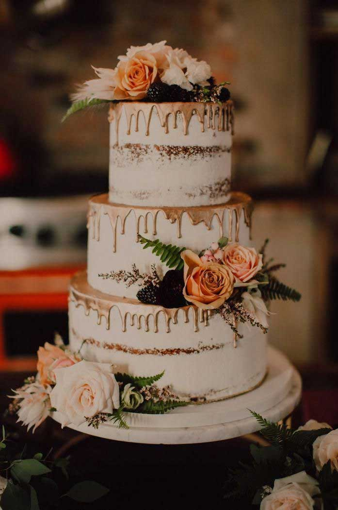 The most beautiful wedding cakes with floral -  wedding cake ideas #weddingcake #wedding #cakeideas wedding cake with flowers #cake