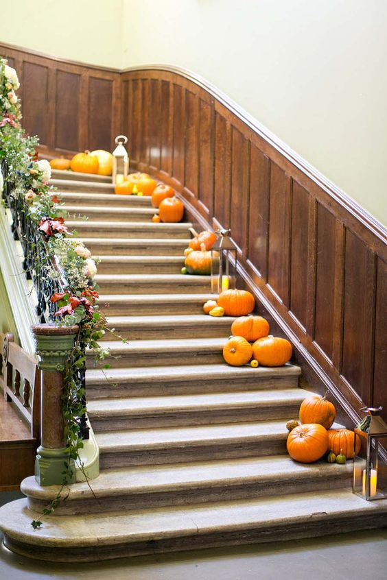 Autumn wedding decoration - pumpkins wedding ideas