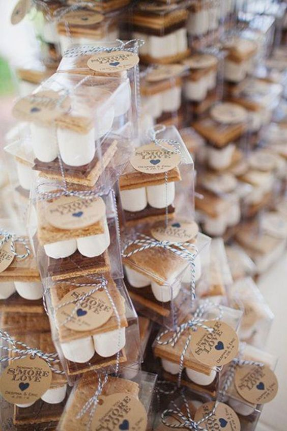 S'more Favor Tags, S'mores Wedding favors #fallwedding #weddingfavors