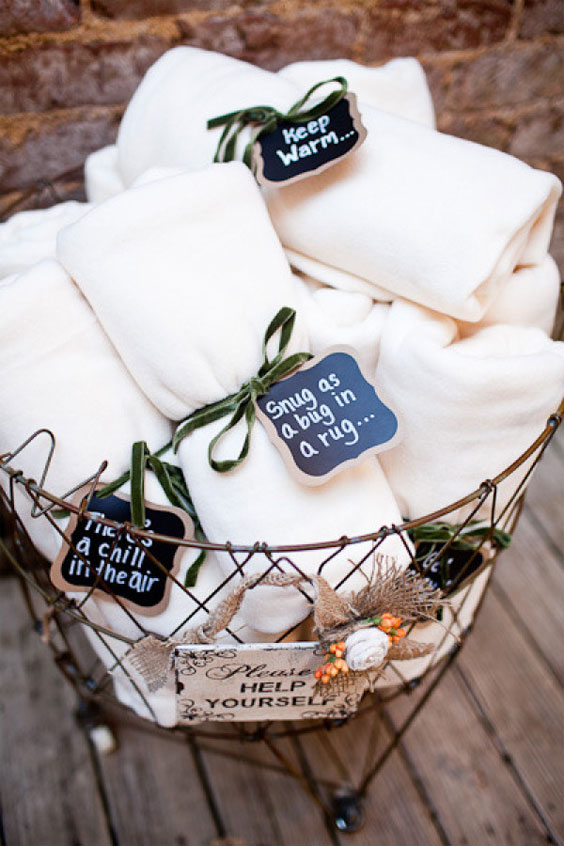 Blankets with cute sayings to keep your guests cozy