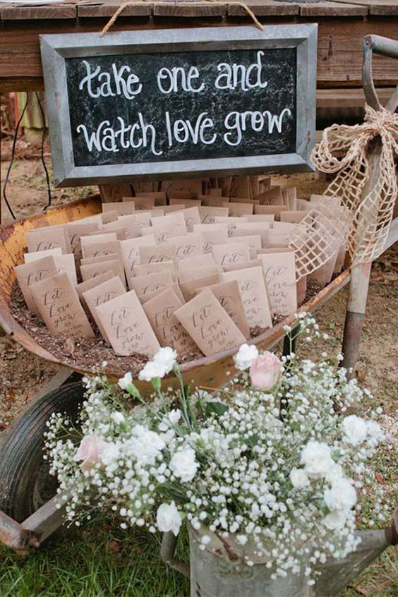 Wedding favors - seed wedding favors