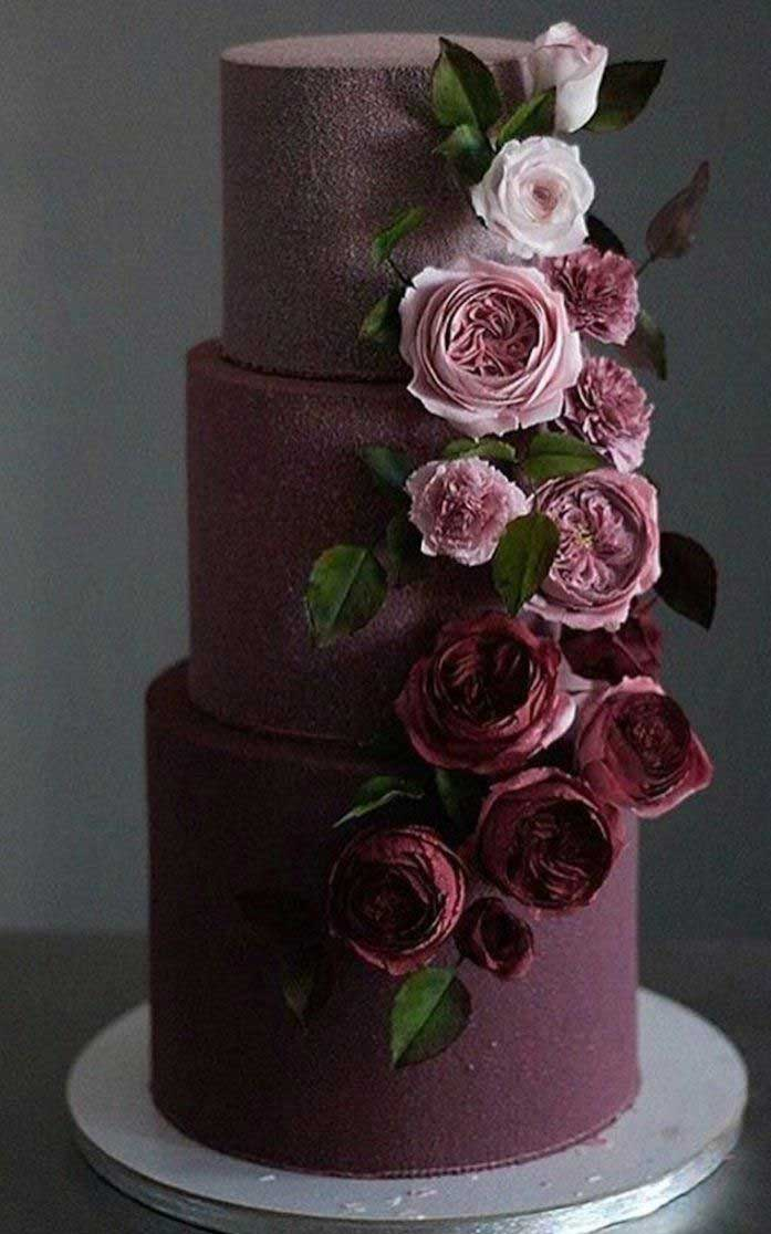 22 The most beautiful wedding cakes with floral -  wedding cake ideas #weddingcake #wedding #cakeideas wedding cake with flowers #cake three tier wedding cake , wedding cake photos, wedding cake 2019 , wedding cakes