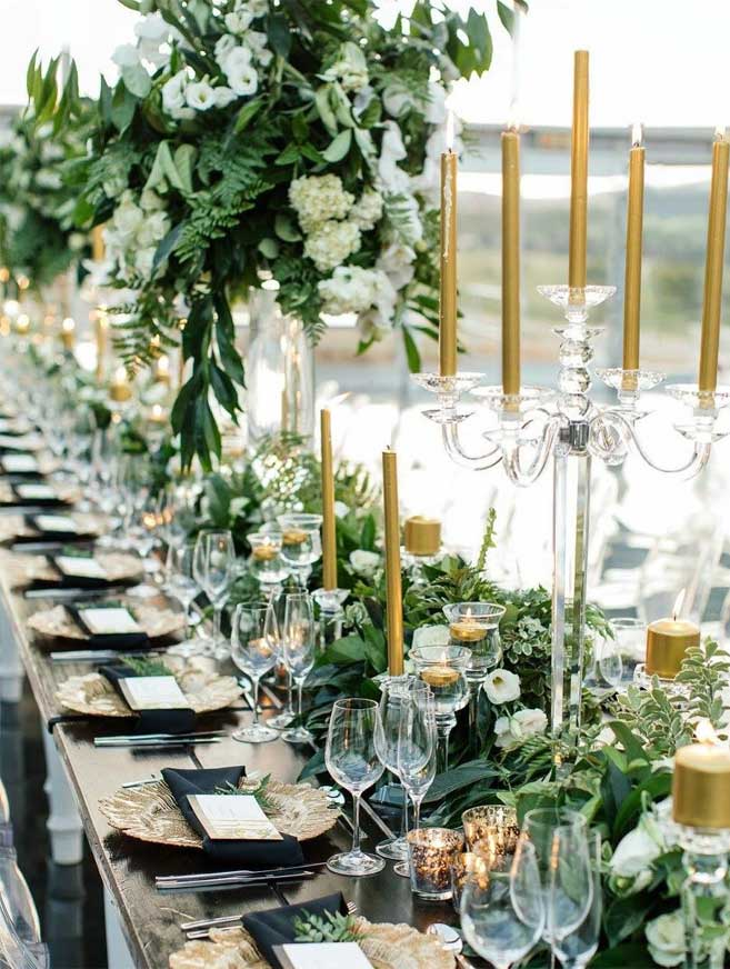 45 Ways To Dress Up Your Wedding Reception Tables - wedding table decorations, tablescape, wedding tablescapes, wedding tablescapes round tables, simple wedding tablescapes, fall wedding tablescapes, wedding table settings, wedding table decorations, wedding tablescapes long tables