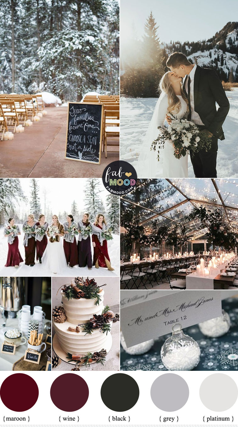 Cozy Winter Wedding Colors 2019 In Shades of Season