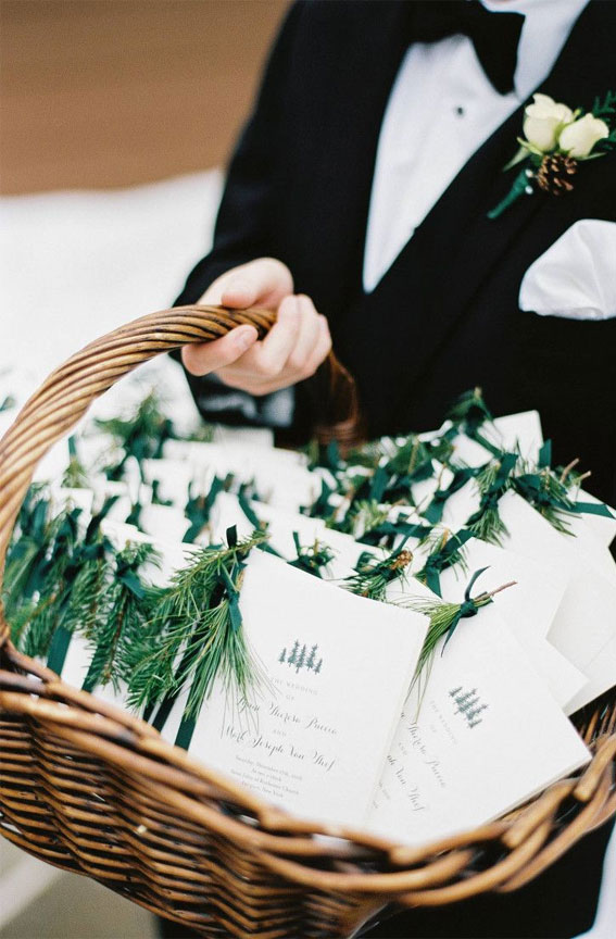 White wedding program , winter wedding ideas , winter wedding programs