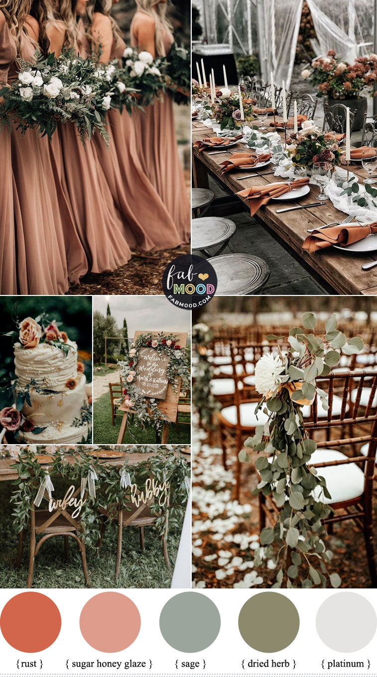 Rust and Sage Wedding Colour Palette
