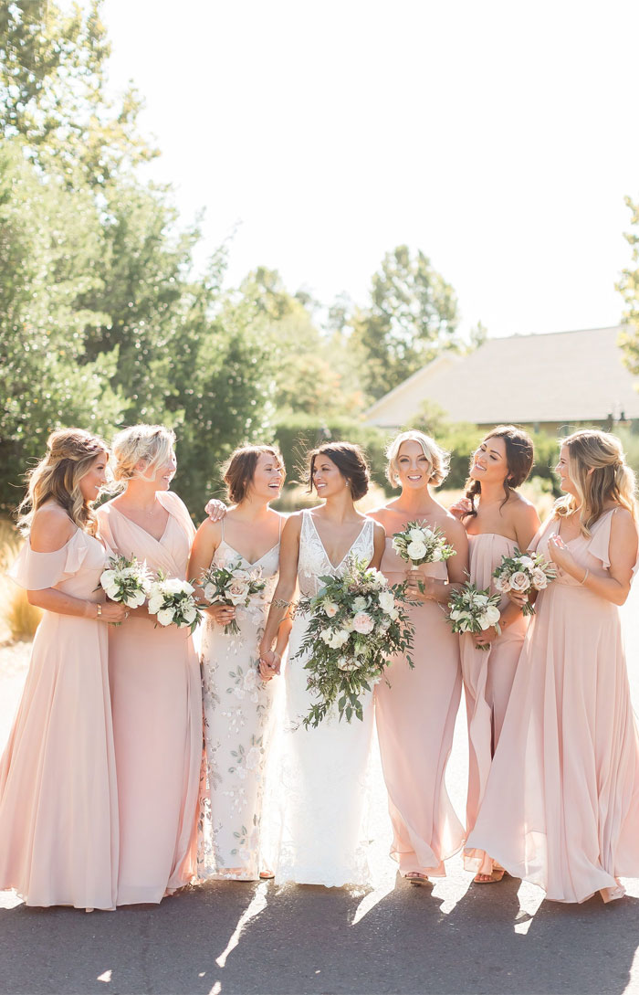 pink bridesmaid dresses , bridesmaid dresses , spring wedding , wedding colors #bridesmaiddresses