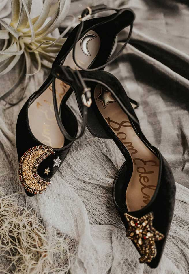 celestial wedding theme, celestial wedding shoes