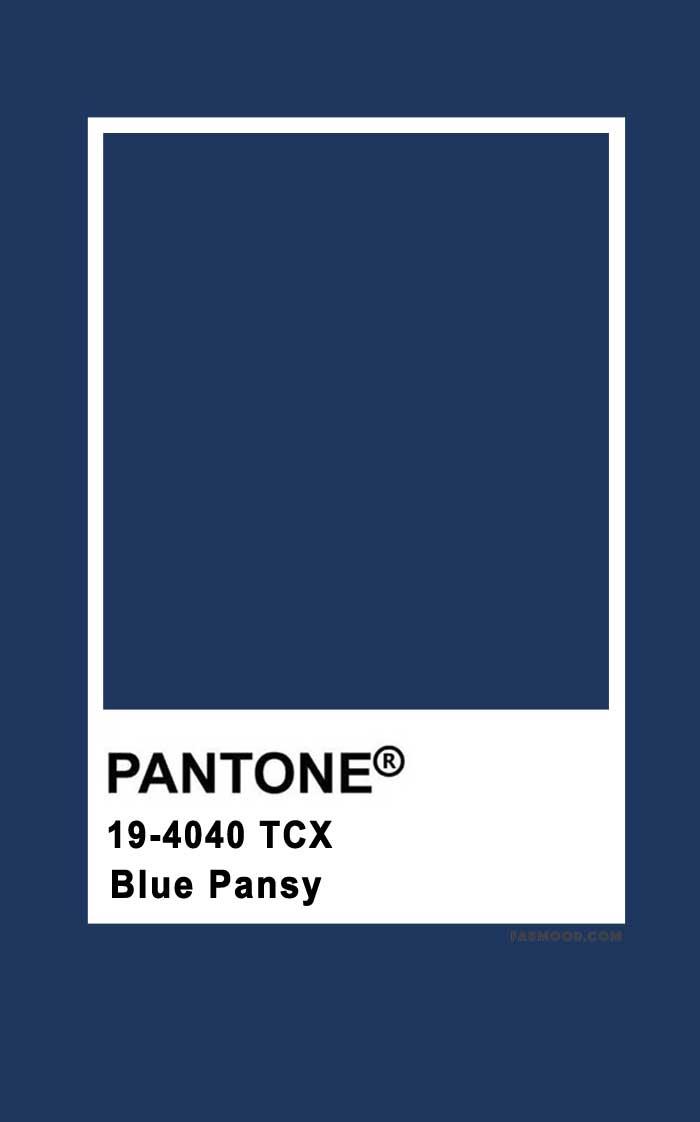 Pantone Blue Pansy 19-4040