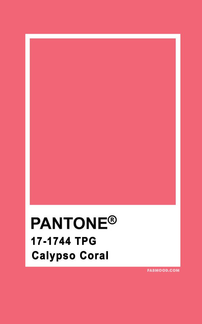 Pantone Calypso Coral 17-1744